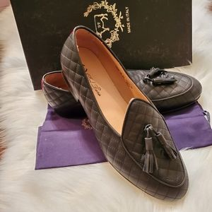 NEW! Del Toro Quilted Leather Loafers Men's 11
